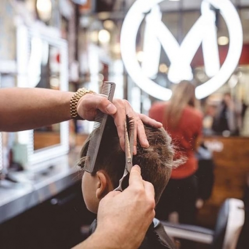 Keep the little ones looking fresh with a visit to @moeandcopeople. . . . #moeandco #southgate #haircut #weekend #barber #hairdresser #behindthechair #freshcuts #freshfade