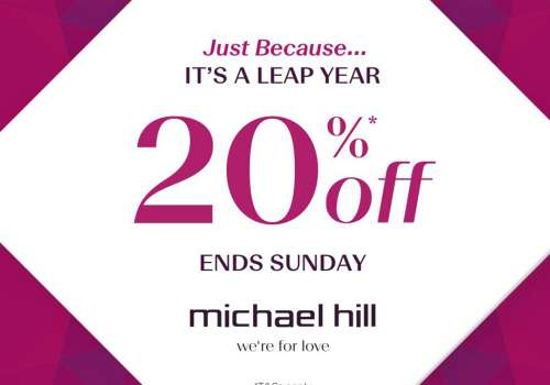Take 20% off* Full-Priced Items @ Michael Hill